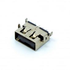 Гнездо USB / AF монтажное, для power bank, короткое, 10мм, USB-2AF10-3