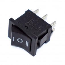 Переключатель клавишный малый KCD1-1-203, 6A, 6pin, ON-OFF-ON