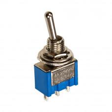 Тумблер MTS-102, ON-ON, 3pin, 3A 250VAC, синий