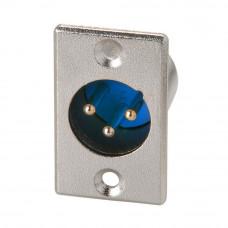 Разъём аудио XLR, штекер CANON 3pin, монтажный 2 отверстия, металлический корпус