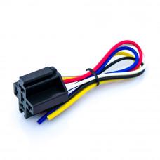 Разъём для авто, держатель реле, корпус пластик, 5pin, с кабелем