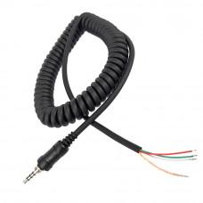 Штекер 3.5мм 4pin с резьбой, витой кабель, для раций