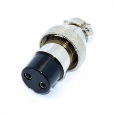 Гнездо GX20, 2-12 контактов, на кабель, с гайкой