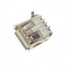 Гнездо USB / AF, монтажное в плату, горизонтальное, USB-2AF-1