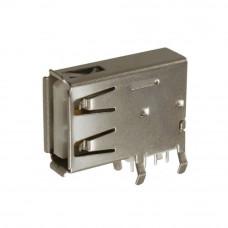 Гнездо USB / AF, монтажное в плату, угловое вертикальное, USB-2AF-2