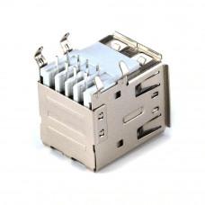 Гнездо USB x 2 / AF, монтажное в плату, горизонтальное, 2USB-2AF-1