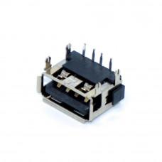 Гнездо USB / AF, монтажное, горизонтальное, короткое, 10мм, USB-2AF10-1