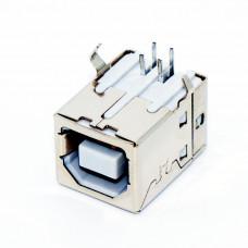 Гнездо USB / B, монтажное в плату, принтерное, USB-2B-1