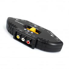 Коммутатор RCA (hub rca), audio-video, с переключателем