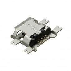 Гнездо micro USB 5pin (В) с платой, монтажное, USB-MICRO-4