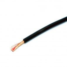 Кабель аудио-видео, 1 жила в экране (1C+1), круглый 2.6мм, черный, 1м