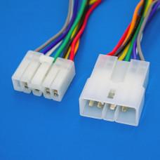 Разъём питания на 8 контактов, комплект (штекер + гнездо), с кабелем