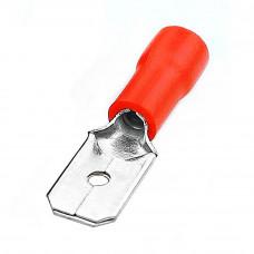 Клемма плоская, штекер 6.3мм MDD1-250, кабель 0.5 - 1.5мм2, красный