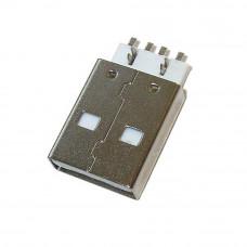 Штекер USB AM, угловой монтажный на плату, горизонтальный, USB-2AM-1