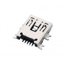 Разъём mini USB, гнездо 5pin, SMD монтажное на плату регистратора, USB-MINI-3