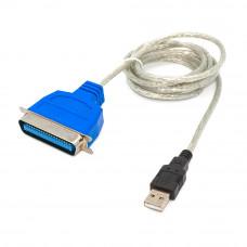 Шнур принтерный, USB в 36pin, штекер A - разъём Centronics, IEEE36 1284, кабель 1.5м