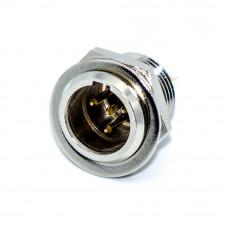 Разъём аудио XLR, штекер mini XLR 4pin, монтажный под гайку, корпус металлический