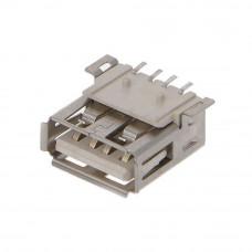 Гнездо USB / AF, монтажное на плату SMD, горизонтальное, USB-2AF-4