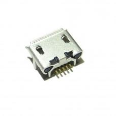 Гнездо micro USB 5pin (В), монтажное SMD, USB-MICRO-1