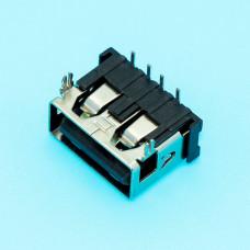 Гнездо USB / AF, монтажное, горизонтальное, короткое, 10мм, USB-2AF10-6