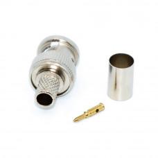 Штекер BNC, обжимной на кабель RG-59, корпус металлический