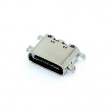 Гнездо TYPE-C 16pin, монтажное SMD на плату, 4 крепления, USB-C-03