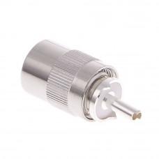 Штекер UHF, PL-259 накрутка на кабель RG-58, HQ, Silver