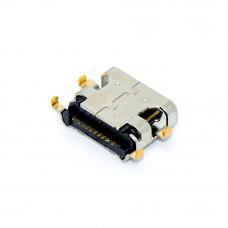 Гнездо TYPE-C 16pin, монтажное SMD на плату, 4 крепления, USB-C-04