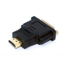 Переходник видео, адаптер HDMI to DVI-D (штекер HDMI - гнездо DVI-D) корпус пластик