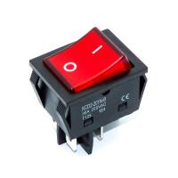 Переключатель KCD2-201N-B, 30A, подсветка 220В, 4 контакты