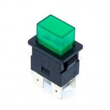 Кнопка прямоугольная PS23-16 с фиксацией, 16A, 4 контакты