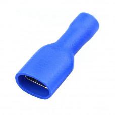 Клемма 6.3мм FDFD2-250, гнездо на кабель 1.5 - 2.5мм2, в изоляции, синяя