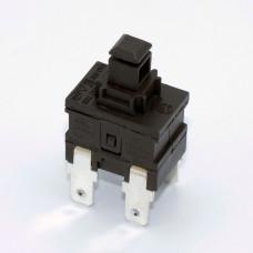 Кнопка для пылесоса PS23-16-2D с фиксацией, 220V, 12A, 4 контакты