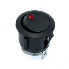 Переключатель KCD1-5-101EN круглый 20мм, подсветка 12В, 16А, 3 контакты