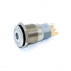 Кнопка антивандальная LB16A-P11D, без фиксации, IP67, LED 12V RD, 3А, 5pin