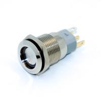 Кнопка антивандальная LB16A-P1Z, с фиксацией, LED 12V, 5 контактов