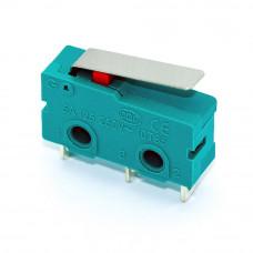 Микропереключатель средний концевой KW4-Z2F с флажком, 3 контакты
