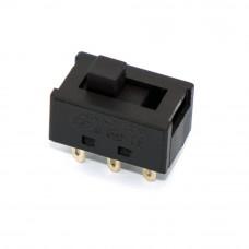 Переключатель ползунковый для фена, SS22N02, ON-OFF, 6pin, черный