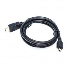 Шнур micro HDMI (штекер - штекер micro D), Gold, длина - 1.5м, черный