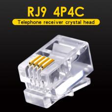 Штекер телефонный 4р4с (трубочный), RJ-9