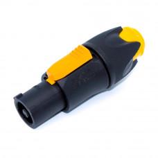 Разъём силовой, штекер PowerCon (тип А, blue), 3pin, 20A, на кабель, черный