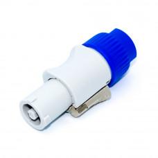 Разъём силовой, штекер PowerCon (тип B, grey), 3pin, 20A, на кабель, серый