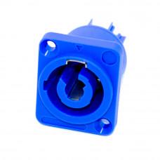 Гнездо PowerCon (тип А, blue), 3pin, 20A, монтажное, синее