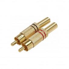 Штекер RCA, gold корпус металлический