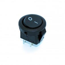 Переключатель клавишный KCD5-2-101 мини, круглый 15мм, 3А, 2pin