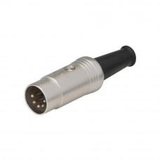 Разъём аудио, штекер 5 DIN NYS322, REAN, на кабель, корпус металлический