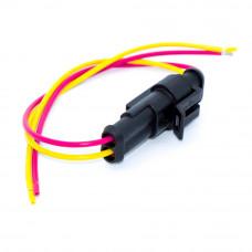 Разъём автомобильный герметичный на 2 контакта, Superseal 1.5, с кабелем, комплект
