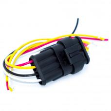 Разъём автомобильный герметичный на 4 контакта, Superseal 1.5, с кабелем, комплект