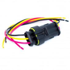Разъём автомобильный герметичный на 3 контакта, Superseal 1.5, с кабелем, комплект