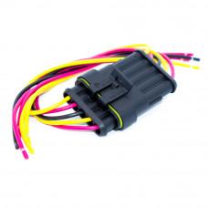 Разъём автомобильный герметичный на 5 контактов, Superseal 1.5, с кабелем, комплект
